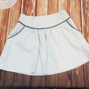 Lux Linen Mini Skirt